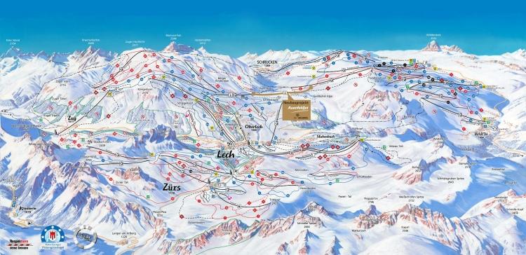 """Seit dieser Saison durch den """"Auenfeldjet"""" zu einem gigantischen Skizirkus angewachsen: Warth-Schröcken und Lech Zürs in Vorarlberg."""