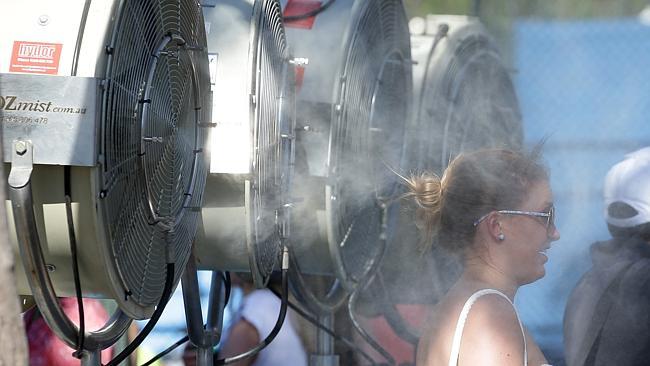 Cool bleiben.  Foto: heraldsun.com.au