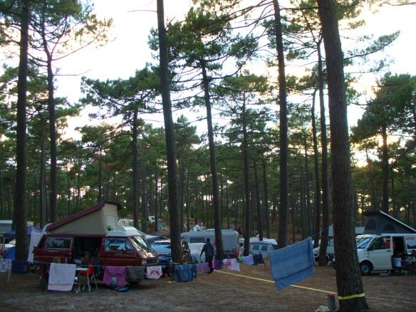 Wenige Hotels, dafür umso mehr Campingplätze: Le Porge-Océan, westlich von Bordeaux an der Atlantikküste.