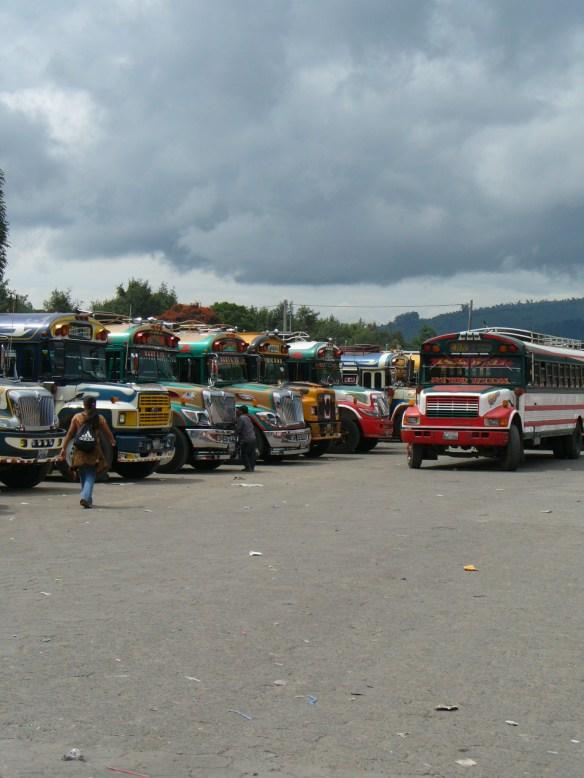 Busbahnhof in Chiapas, Mexiko.