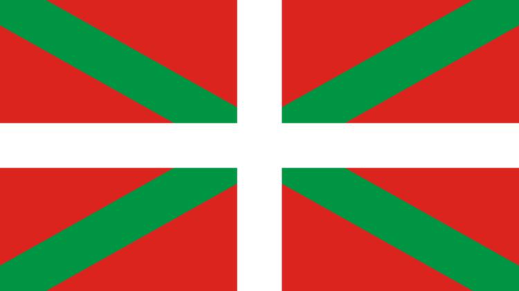 Keine spanische Krone und kein Gelb in Sicht.. Das Baskenland zeigt Flagge.